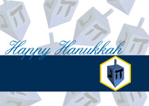 Happy Dreidel Hanukkah Card